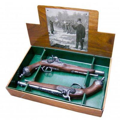 2-pistolas-italianas-de-duelo,-1825.-Ref.2-1013G.-DENIX.
