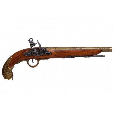 Pistola-de-chispa,-Alemania-S.-XVIII.-Ref.-1043L.-DENIX.
