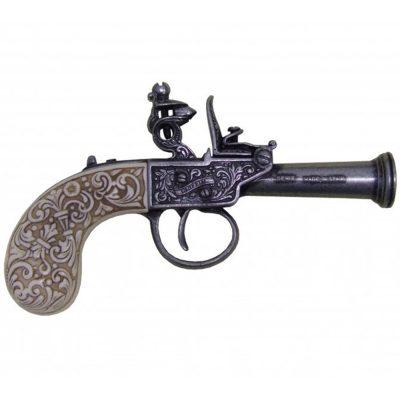 Pistola-de-chispa,-Inglaterra-1798.-Ref.-1009G.-DENIX-