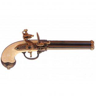 Pistola-italiana-de-3-canones--Italia-1680--Ref.-1016L.-DENIX