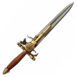 Pistola con Puñal Réplica del S XVIII Francia Denix Ref 1204