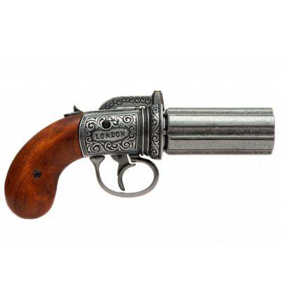 Revolver-pimentero-de-6-canones,-Inglaterra-1840.-Ref.1071.-DENIX