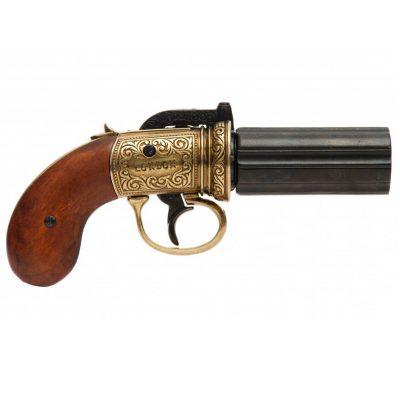 Revolver-pimentero-de-6-canones,-Inglaterra-1840.-Ref.5071.-DENIX