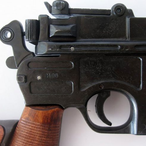 Pistola C96 con funda culata de madera Ref 1025 DENIX
