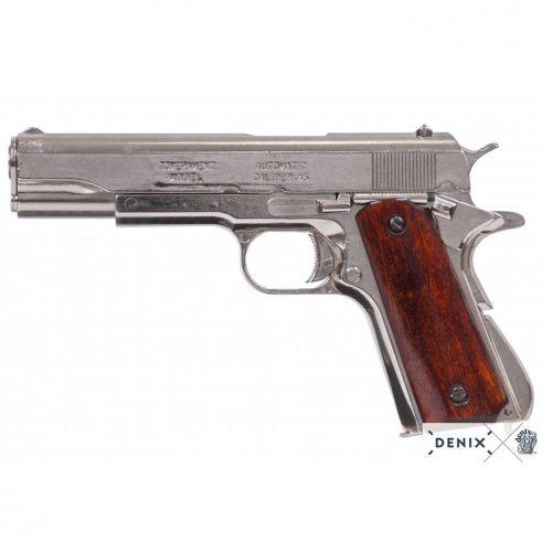 Pistola automática 45 M1911 A1 Fabricada por ColtUSA 1911 Cachas Madera Lacada