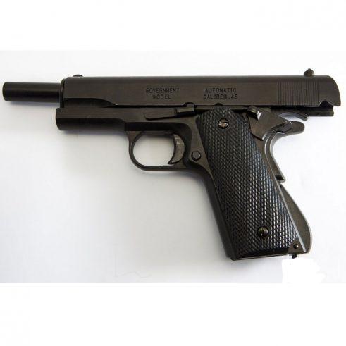 Pistola automática 45 M1911 A1 Fabricada por Colt USA DENIX Cachas Plástico Negro REf 1312