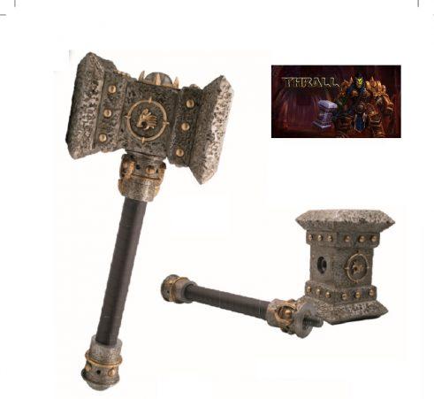 Réplica Martillo DoomHammer de Thrall peso 2kg medidas 48x15x23 ref 10414